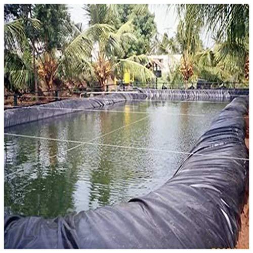 ZHANGZHIPENG Telo per Laghetto, Basi Flessibili per Stagno e Acqua Giardinaggio Acquacoltura Prestazioni Resistente HDPE Nero 3x2m(20S), più Dimension