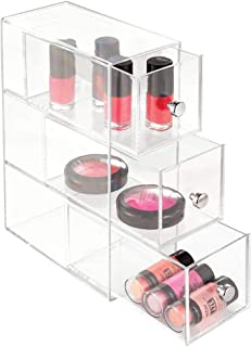 InterDesign Clarity 3-Drawer Cosmetic Organizer for Vanity Cabinet – Perfect Storage Box for Makeup, Beauty Products, Eyeglasses, Clear