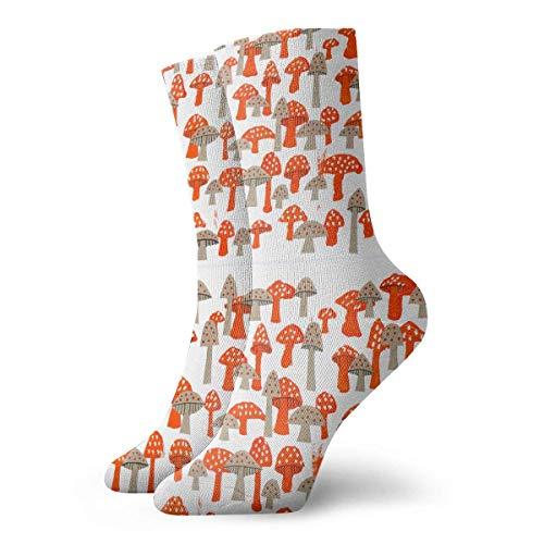 Wdskbg Mushrooms Fashion Short Crew Sock Athletic Ankle Dress Sock One Size For Men&Women