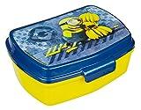 Scooli MNRS9906 - Brotzeitdose aus Kunststoff mit Clip, leicht zu öffnen und zu schließen, BPA und Phthalat frei, Minions, ca. 13 x 17 x 6 cm