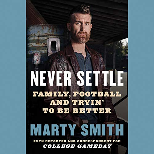 Never Settle audiobook cover art