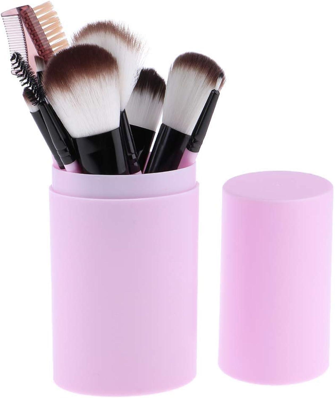 Fashion Multifunction 12pcs Set Makeup Brushes with HolderPurple for Concealer, Foundation, Blending, bluesh,etc Pretty (color   Purple, Size   19  9  9)