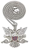 GWOOD Dipset Pendant with 24 Inch Long Cuban Necklace Silver Color