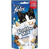 FELIX KnabberMix Katzen-Leckerlis mit Proteinen, Vitaminen & Omega 6, Katzen-Snacks ohne Zusatz künstlicher Farbstoffe, Menge: 8er Pack (8x60g Beutel)