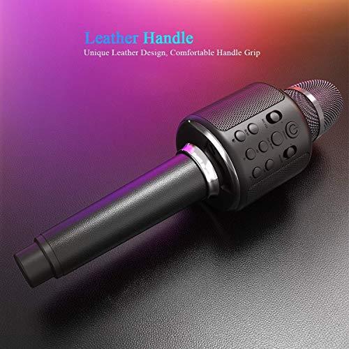 RCTOYS Bluetooth karaokemicrofoon, E103 draagbare karaokespeler luidspreker compatibel met Apple iPhone Android smartphone of pc, Home KTV Outdoor Party Muisc spelen op elk moment
