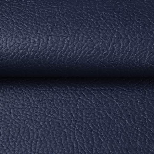 PU Tela De Piel Sintética Cuero Sintético Textura De Piel De Lichi Paño De Cuero Tapicería Hogar Fabricación De Artesanías De Costura Reparar Decorar Silla De Cuero Sofá(Size:1.4*3m,Color:azul oscuro)