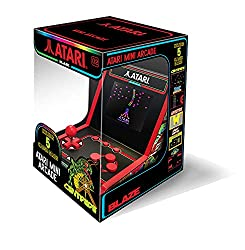 """An officially licensed colllectable retro mini arcade Full color 2.8"""" screen to display your arcade skills 5 Officially licensed Games included Arcade sounds from a built in speaker 3.5mm headphone jack to connect your headphones Removable joystick C..."""