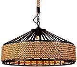 HSLINU Lámpara de araña de Rueda de Carro de Granja de 80 cm, Isla de Cocina Redonda de Industria Vintage, Soporte E27,...