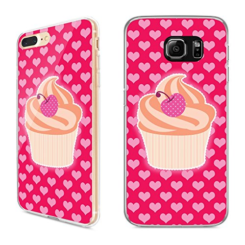 Handyhülle Cupcake Samsung Silikon Donut Schokolade Lolli Simpsons Kuchen Keks, Handy:Samsung Galaxy A3 (2016), Hüllendesign:Design 1 | Silikon Klar