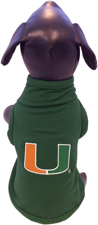 All Star Dogs Miami Hurricanes Cotton Lycra Dog Tank Top, XXSmall
