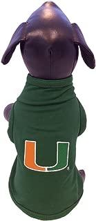 NCAA Miami Hurricanes Cotton Lycra Dog Tank Top, Small