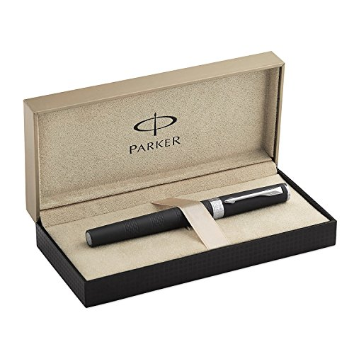 Parker Ingenuity Large Daring Black Rubber Chrome Trim (CT) 5th Technology Mode Pen (S0959250)