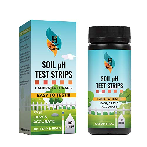 Soil pH Test Kit - Fast Testing at Home for Plants, Gardens, Lawns, Vegetables, More | Accurate & Easy Tester for Outdoor & Indoor Dirt with 100 Soil Test Strips pH 3.5-9.0