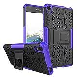 FaLiAng Sony Xperia E5 Funda, 2in1 Armadura Combinación A Prueba de Choques Heavy Duty Escudo Cáscara Dura para Sony Xperia E5 (Púrpura)