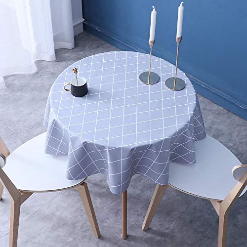 Kuingbhn Mantel Mesa Rectangular Impermeable Grueso Resistente Al Desgaste y Duradero para Comedor Cocina o Salón Diámetro del Círculo Gris 120cm