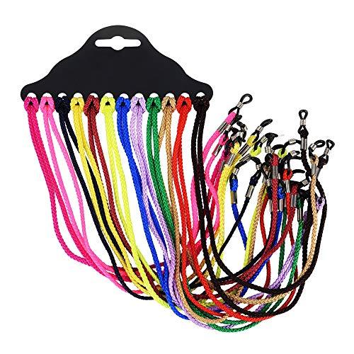 NYKKOLA Pack de 12 correas para gafas de sol deportivas, gafas de seguridad, gafas, cuello, cordón de cordón