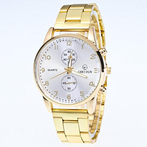Clearance!!! Mens Wristwatch, Jushye New Men and Women General Business Quartz Watch Stainless Steel Strap Bracelet (M)