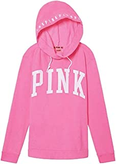 Victoria's Secret Pink Hoodie Campus Crossover Tunic XSmall Hot Pink