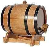 JLDN 10L Barril de Vino, Barril de Madera de Roble Envejecimiento Barril con Grifo con Filtro Kit elaboración del Vino for su Almacenamiento o envejecimiento del Vino,A