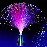 fibre optic light, color changing led fiber optic lamp battery operated led table lamp fountain