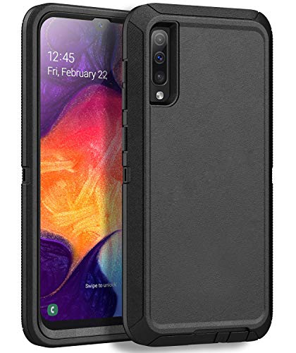 MXX Heavy Duty Case for Samsung Galaxy A50 - (No Screen Protector) Drop Protection Tough Case for Galaxy A50/ A50s/ A30s (Black)