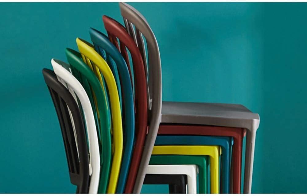 ZXL Dossier en Plastique de ménage dinant la Chaise, siège extérieur de Dossier de Chaise de café de Restaurant, Style de Mode Minimaliste Nordique (Couleur: Gris) Green
