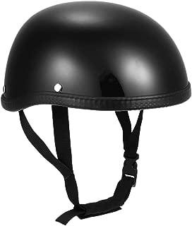 Anself Motorcycle Half Helmet Open Face Helmet Protection Shell Helmet for Motorcycle Scooter Bike (Bright Black)