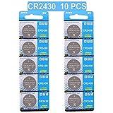 LAPROBING Batterie CR2430 Lithium 3V, Bouton de Pile Bouton électronique (10 pièces)