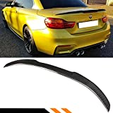 Cuztom Tuning Fits for 2014-2020 BMW F33 4 Series & F83 M4 Convertible Coupe Carbon Fiber Trunk Spoiler Wing - M4 V Style
