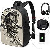 Mochila con Interfaz USB Unisex Backpack with USB Charging Port Lost Translation Classic Fashion General Business Bookbag