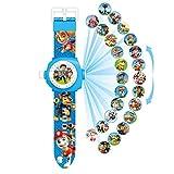 N-B Proyección de Perro Reloj Digital Equipo de Patrulla Gestión del Tiempo Desarrollo Inteligencia Aprendizaje Juguetes para niños Reloj Digital Correa cómoda Hebilla fácil