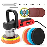 "Hi-Spec 6 Piece 800W 5.7A Dual Action Random Orbital 6"" Polisher for DIY Auto, Car, Boat, Body, Home Buffing, Polishing & Detailing. Includes Accessories Kit with Sponge & Sanding Pads"