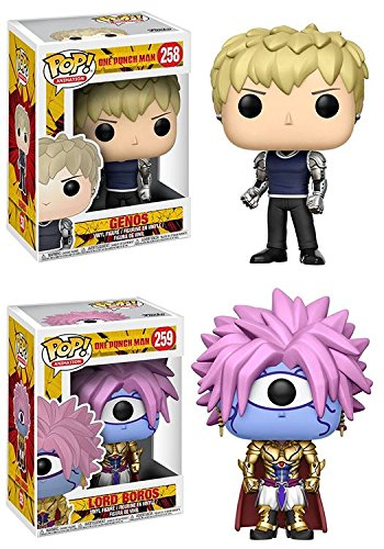 Funko POP! One Punch Man: Genos + Lord Boros – Anime Stylized Vinyl Figure NEW