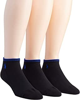 Polo Ralph Lauren mens socks Tech Ped low cut black 3pairs