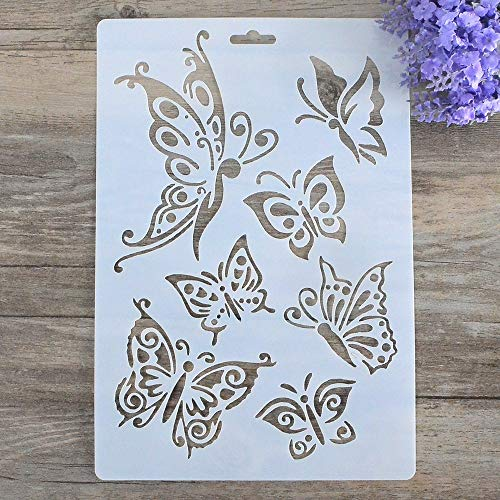 DIY Decorative Stencil Template for Painting on Walls Furniture Crafts (Butterfly)