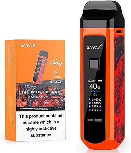 E Zigarette, Smok 40W RPM40 Kit Eingebaute 1500mAh Batterie, Shisha Starter Set mit 4.3ml +4.5ml Verdampfer Tank, Kein Nikotin Kein E-Liquid (Orange)