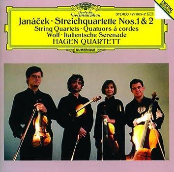 ヤナーチェク:弦楽四重奏曲第1・2番、ヴォルフ:イタリア風セレナーデ