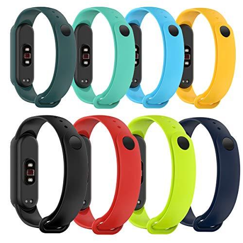 Shieranlee Compatible con Xiaomi Mi Band 6 Correa,Correa de Reloj de Pulsera de Silicona Suave de Color para Xiaomi Mi Band 5 /Mi Band 6