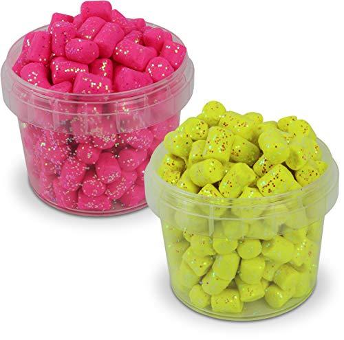 Marshmallows zum Forellenangeln, mit Glitter-Effekt, geruchsintensiv, 60 g, Farbe :Set