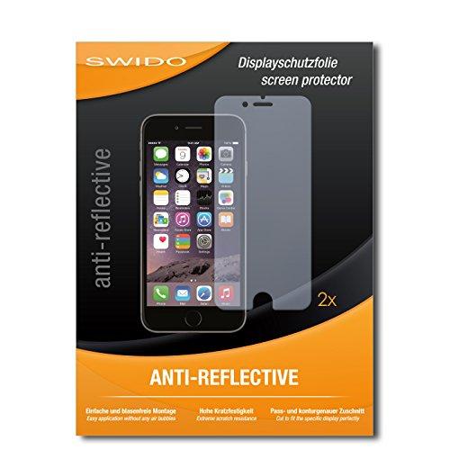 Schutzfolie für Apple iPhone 6S Plus [2 Stück] SWIDO Anti-Reflex MATT Entspiegelnd, Hoher Festigkeitgrad, Blasenfreie Montage, Schutz vor Öl, Staub, Fingerabdruck & Kratzer / Folie, Bildschirmschutz, Bildschirmschutzfolie, Panzerglas-Folie