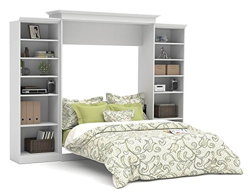 Bestar Versatile Queen Wall Bed with Storage in White