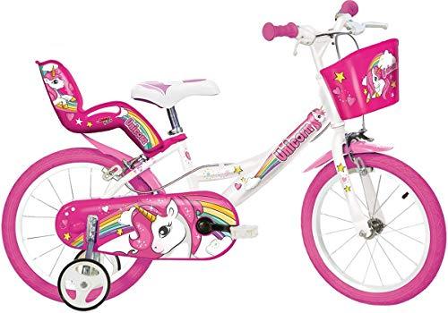 """Cicli Puzone Bici 16"""" Unicorn Dino Bikes Art. 164 R-Un"""