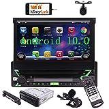 Autoradio 1 Din Android Radio Macchina Bluetooth USB Stereo Auto con Schermo 7 Pollici Car Play Navigatore GPS Android Auto lettore Multimediale DAB SD FM/AM WiFi Mirrorlink Microfono Telecomando