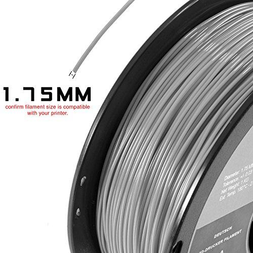 HATCHBOX PLA 3D Printer Filament, Dimensional Accuracy +/- 0.03 mm, 1 kg Spool, 1.75 mm, Black, Pack of 1