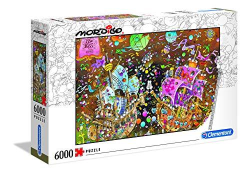 Clementoni- Puzzle 6000 Piezas Mordillo : The Kiss (36527.2)