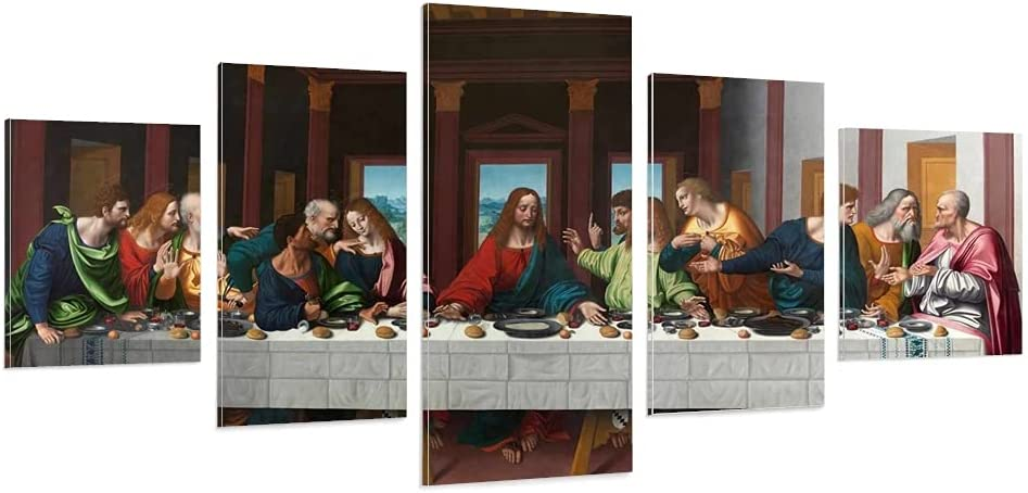 Max 65% OFF 5 Piece Max 40% OFF The Last Supper Canvas Jesus Poster Painting Decorative