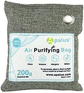 APALUS 200g Natural Air Purifying Bag. Odor Eliminator for Cars, Closets, Bathrooms and Pet Areas. Captures and Eliminates...