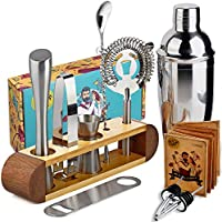 TJ.MOREE Bartender Kit with Stand, 11-Piece Bar Tool Set
