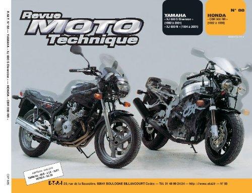 Revue technique de la Moto, numéro 88.1 : Yamaha XJ 600 s et Honda CBR 900 RR, 1992-1993