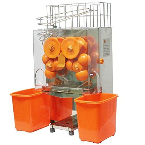 Chaneau Centrifugeuse Jus 120W Commercial Centrifugeuse Jus Orange 40-80mm Jus d'orange Machine Plastique (20-22...